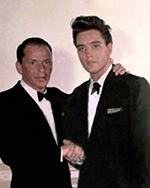 Elvis Presley and Frank Sinatra